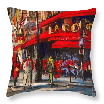 At The Cafe De La Rotonde Paris Throw Pillow