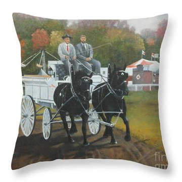 At The Carp Fair Throw Pillow