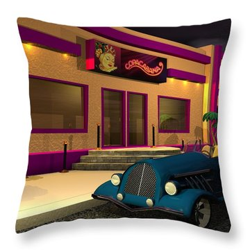 At The Copa Throw Pillow by John Pangia