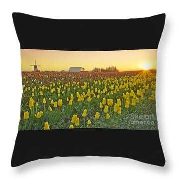 Throw Pillow featuring the photograph At The Crack Of Dawn by Nick  Boren
