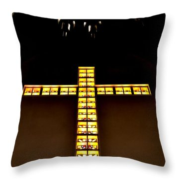 At The Cross Throw Pillow by Deena Stoddard