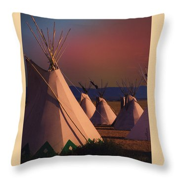 At The Encampment Throw Pillow