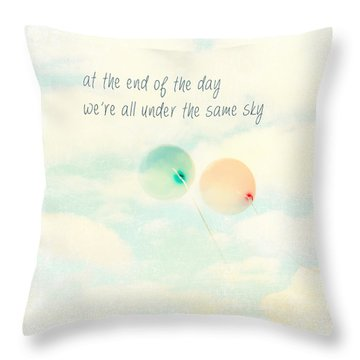 Throw Pillow featuring the photograph At The End Of The Day by Sylvia Cook