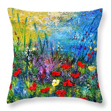 At The End Of The Day Throw Pillow by Teresa Wegrzyn