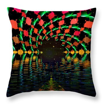At The End Of The Tunnel Throw Pillow by Faye Symons