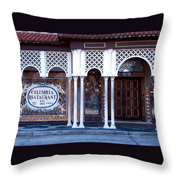 At The Entrance Throw Pillow by Judy Wanamaker