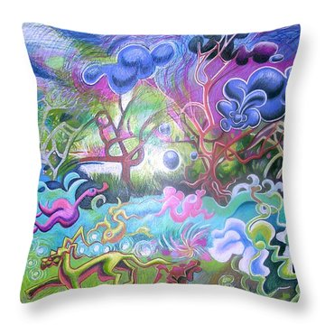 At The Equator Throw Pillow by Genevieve Esson