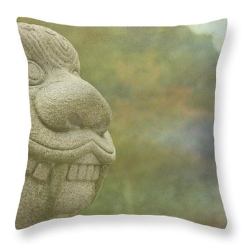 At The Garden Entrance Throw Pillow
