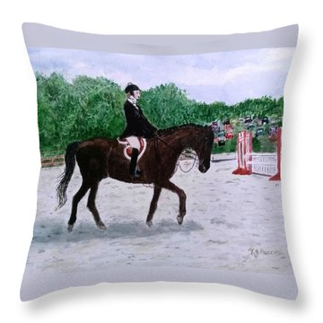 At The June Fete Throw Pillow
