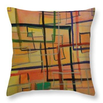 At The Office Throw Pillow by Karen Lillard