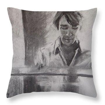 At The Piano Throw Pillow by Carol Berning