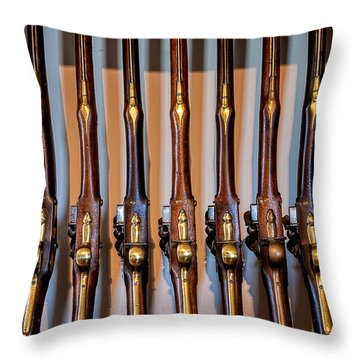 At The Ready Throw Pillow by Christopher Holmes