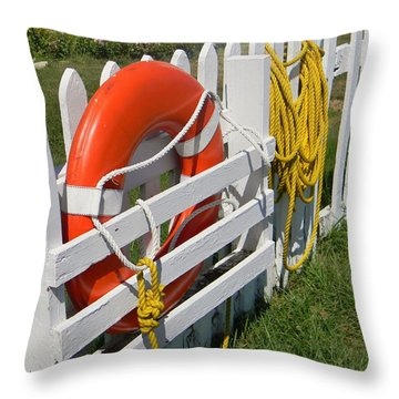 At The Ready Throw Pillow by Jean Goodwin Brooks