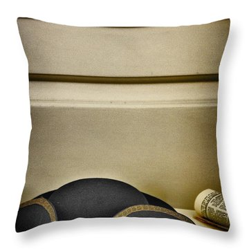 At The Ready Throw Pillow by Margie Hurwich