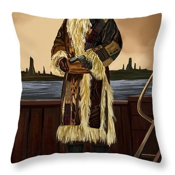Throw Pillow featuring the digital art At The Sea by Bogdan Floridana Oana