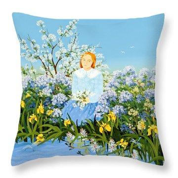 At The Shore Of Dreams Throw Pillow by Magdolna Ban