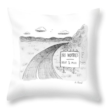 At The Side Of A Stretch Of Rural Road Throw Pillow