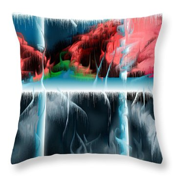 Throw Pillow featuring the digital art At The Time Of Disappearance by Leo Symon