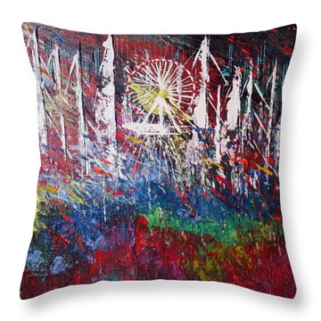 At The Top Throw Pillow by George Riney