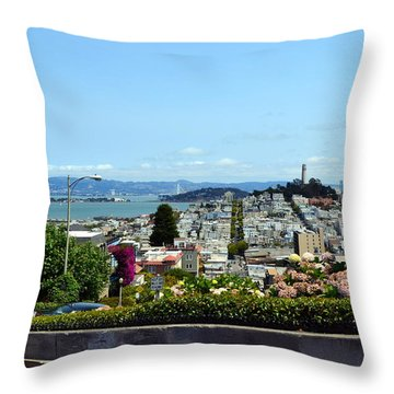 At The Top - Lombard Street Throw Pillow