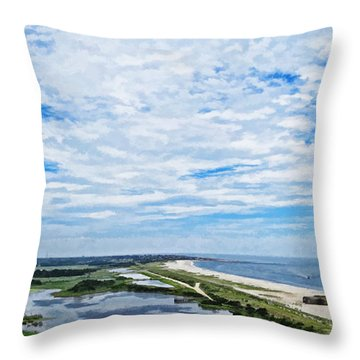 At The Top Of The Lighthouse Throw Pillow