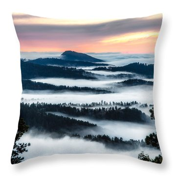 At The Top Of The World Throw Pillow