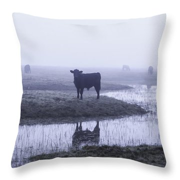 At The Watering Hole Throw Pillow
