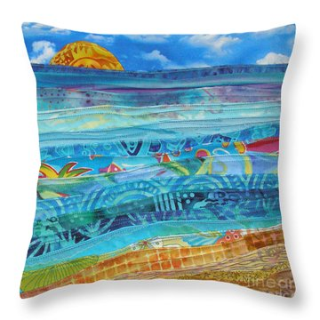 At The Water's Edge Throw Pillow by Susan Rienzo