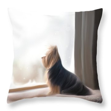 At The Window Throw Pillow by Catia Cho