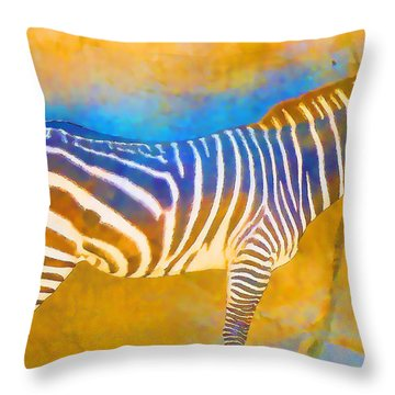 At The Zoo - Zebras Throw Pillow
