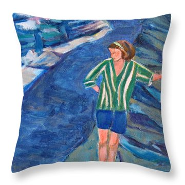 At Wintergreen Park Canajoharie 1957 Throw Pillow by Betty Pieper