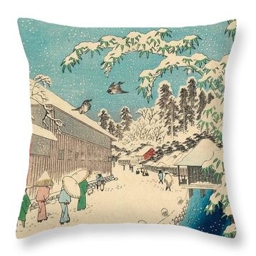 Atagoshita And Yabu Lane Throw Pillow