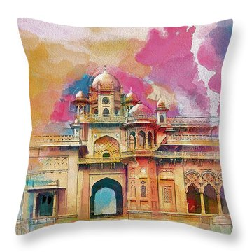 Atchison College Throw Pillow by Catf