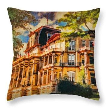 Athenaeum Hotel - Chautauqua Institute Throw Pillow by Lianne Schneider