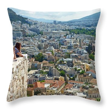 Athenian Scholars Throw Pillow by Cheryl Del Toro