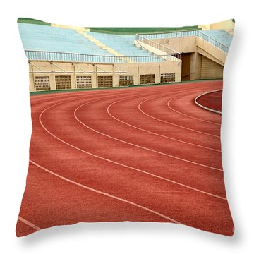 Athletic Track And Field Markings Throw Pillow