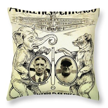 Athletics Vs Chicago 1929 World Series Throw Pillow