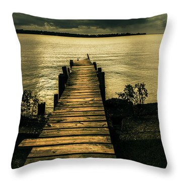 Atkins Landing Throw Pillow