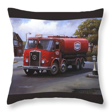 Atkinson Tanker Throw Pillow by Mike  Jeffries