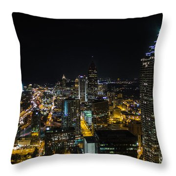 Atlanta City Lights Throw Pillow