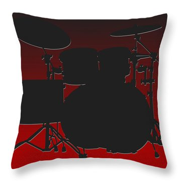 Atlanta Falcons Drum Set Throw Pillow by Joe Hamilton
