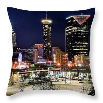 Atlanta Panoramic View Throw Pillow