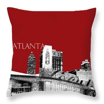 Atlanta World Of Coke Museum - Dark Red Throw Pillow by DB Artist