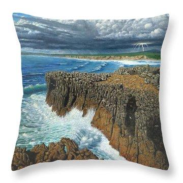 Atlantic Breakers Pontal Portugal Throw Pillow