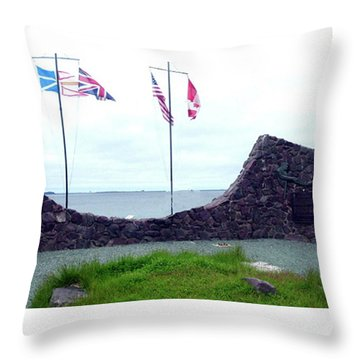 Atlantic Charter Historic Site Throw Pillow by Barbara Griffin