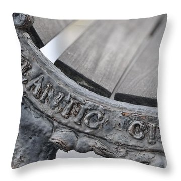 Atlantic City Bench Throw Pillow