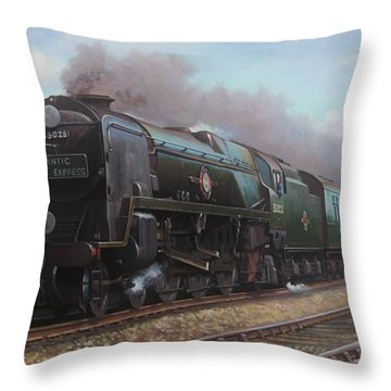 Atlantic Coast Express Throw Pillow by Mike  Jeffries