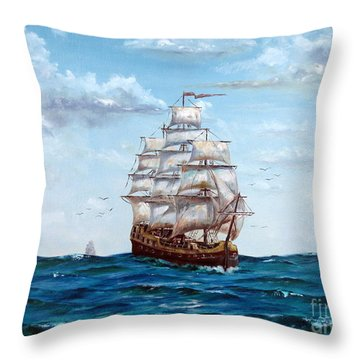 Atlantic Crossing  Throw Pillow by Lee Piper
