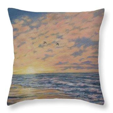 Atlantic Dawn # 2 By K. Mcdermott Throw Pillow