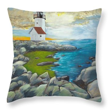Atlantic Dusk Throw Pillow